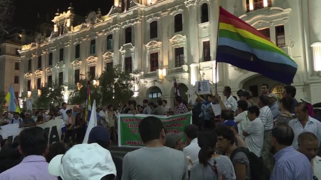 peruvians march in protest against presidential candidate keiko fujimori, daughter of disgraced ex president alberto fujimori - peruvian ethnicity stock videos & royalty-free footage