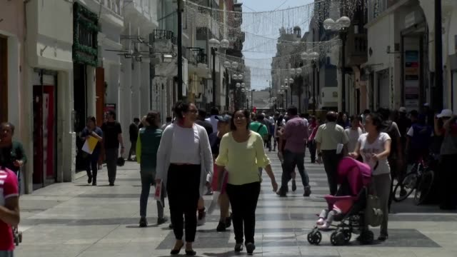 peruvians react to last weekend's referendum in which voters overwhelmingly approved a government overhaul that among other things sends all members... - peruvian ethnicity stock videos & royalty-free footage