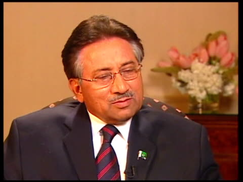 INT Pervez Musharraf interview SOT Talking of bin Laden / The issue is not going and locating one individual / We are operating against all...