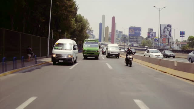 pesero buses in rush hour in mexico city - road signal stock videos & royalty-free footage