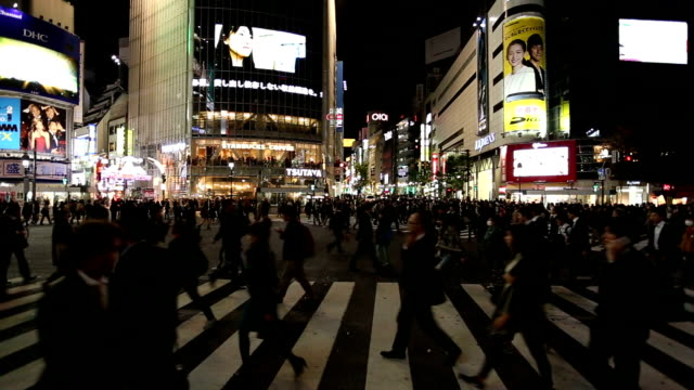 Pesestrain crossing Shibuya junction