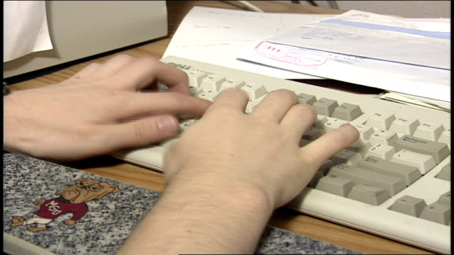 CU Pesron's Hands Typing on a Computer Keyboard
