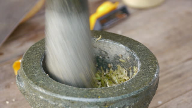 pestle parsley root - parsley stock videos and b-roll footage