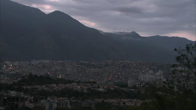 WS HA Petare cityscape at dusk / Caracas, Miranda, Venezuela