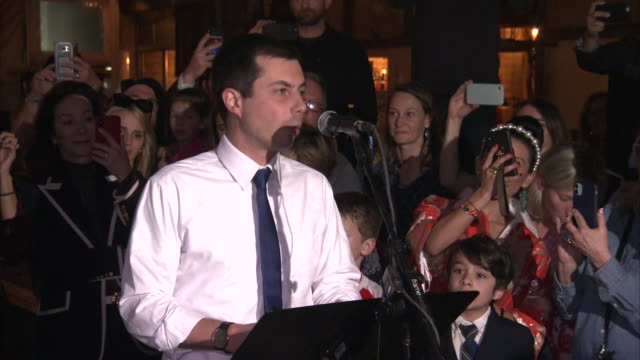 pete buttigieg announces his endorsement of joe biden during a campaign event in dallas, texas. - representing stock videos & royalty-free footage
