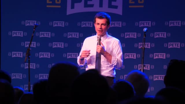 pete buttigieg talks about how two men as first couple would be on the front of time magazine - candidate stock videos & royalty-free footage