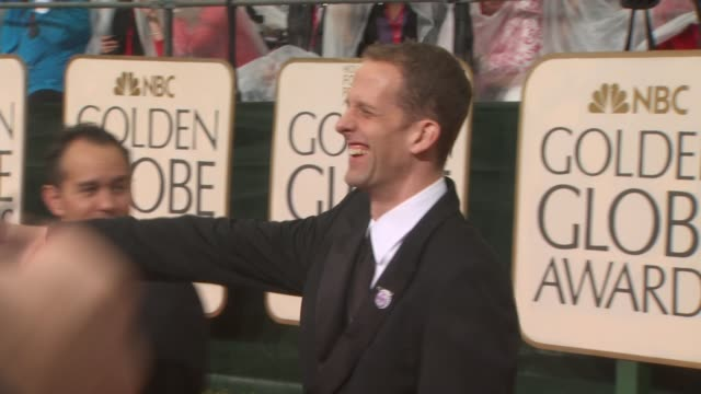 pete docter at the 67th annual golden globe awards arrivals part 3 at beverly hills ca - ゴールデングローブ賞点の映像素材/bロール
