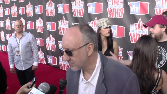 pete townshend at the vh1 rock honors at los angeles ca - vh1 stock videos & royalty-free footage