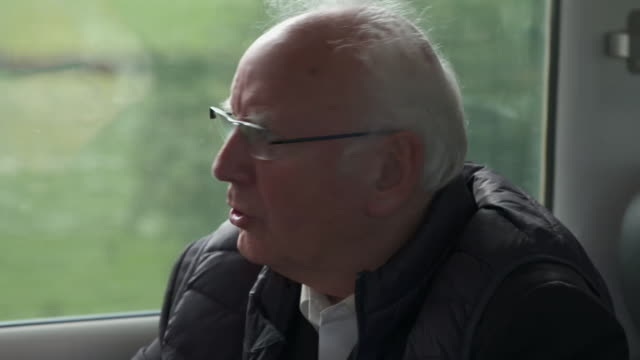 pete waterman saying the 'staycation express' train is purely for tourism for people who can spend all day looking out of the window and enjoying the... - progress stock videos & royalty-free footage
