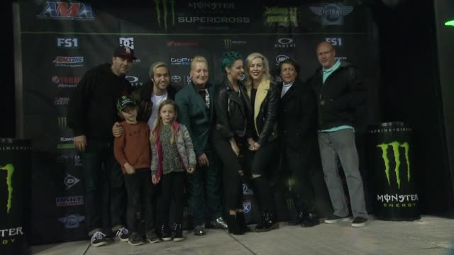 pete wentz and tre cool at monster energy supercross celebrity night at angel stadium of anaheim on january 23, 2016 in anaheim, california. - angel stadium stock videos & royalty-free footage
