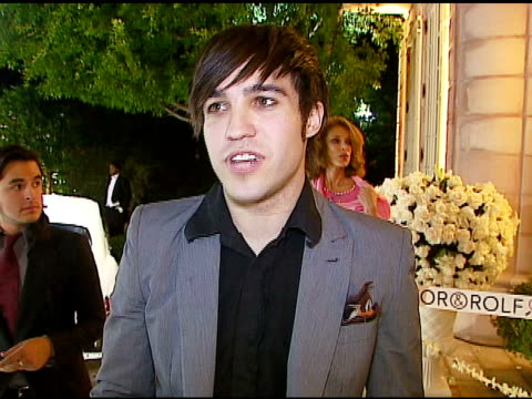 pete wentz at the handm launch viktor and rolf collection party at private residence in belair california on october 28 2006 - 2006 stock videos & royalty-free footage