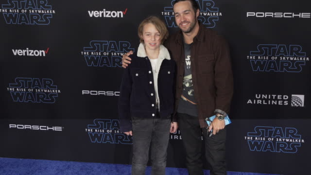 """pete wentz at the premiere of disney's """"star wars: the rise of skywalker"""" on december 16, 2019 in hollywood, california. - star wars stock videos & royalty-free footage"""