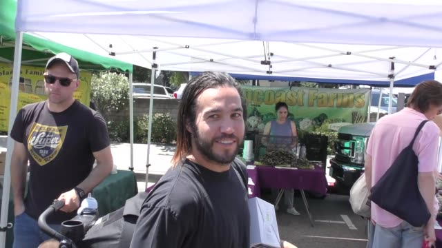 INTERVIEW Pete Wentz talks about doing an Ariana Grande song while shopping at the Farmer's Market in Studio City in Celebrity Sightings in Los...