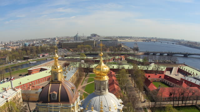 t/l ha zo fisheye peter and paul cathedral roofs - russia stock videos and b-roll footage