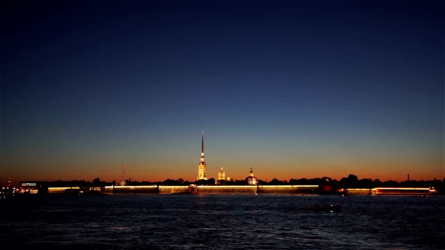 Peter and Paul Fortress at Dusk