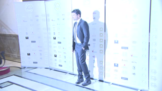peter andre at the 4th annual national film awards at porchester hall on march 28, 2018 in london, england. - ポーチェスター点の映像素材/bロール