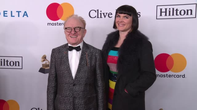 peter asher and victoria asher at clive davis pre-grammy gala at sheraton times square on january 27, 2018 in new york city. - アッシャー点の映像素材/bロール