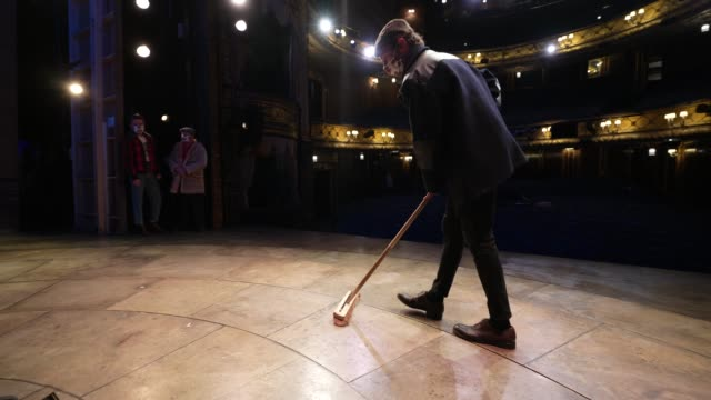 peter baker as the character trigger on stage at theatre royal haymarket on september 3, 2020 in london, england. - theatre royal haymarket stock videos & royalty-free footage