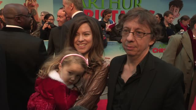 peter baynham on his daughter's reaction to the film and his christmas plans at the arthur christmas world premiere at london england - peter baynham stock videos & royalty-free footage