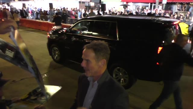 peter berg signs for fans outside the premiere of spenser confidential at westwood village theatre in westwood in celebrity sightings in los angeles - westwood neighborhood los angeles stock videos & royalty-free footage