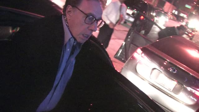 peter bogdanovich arrives at cecconi's in west hollywood - ピーター・ボグダノヴィッチ点の映像素材/bロール