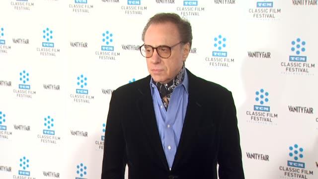 peter bogdanovich at the tcm classic film festival opening night screening of 'a star is born' at hollywood ca. - ピーター・ボグダノヴィッチ点の映像素材/bロール