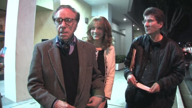 peter bogdanovich at writers guild theater in beverly hills at the celebrity sightings in los angeles at los angeles ca. - ピーター・ボグダノヴィッチ点の映像素材/bロール