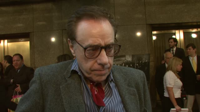 peter bogdanovich on how he is if feeling tonight filming the last episode with lorraine bracco and how there is definitely an interesting twist... - zuletzt stock-videos und b-roll-filmmaterial