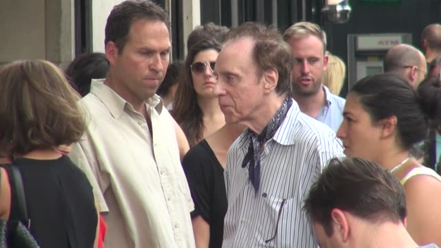 peter bogdanovich on location for the film 'squirrels to the nuts' in new york, ny, on 7/17/13. - ピーター・ボグダノヴィッチ点の映像素材/bロール