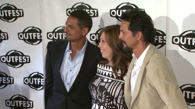 peter bratt kirsten schaffer benjamin bratt at the 2009 outfest opening night gala of 'la mission' at los angeles ca - benjamin bratt stock videos & royalty-free footage