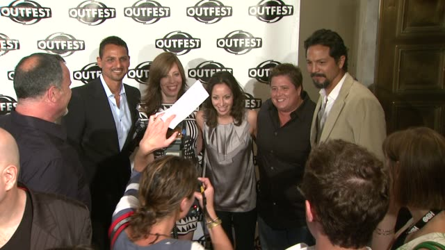 peter bratt kirsten schaffer jennifer elia chaz bono benjamin bratt at the 2009 outfest opening night gala of 'la mission' at los angeles ca - benjamin bratt stock videos & royalty-free footage