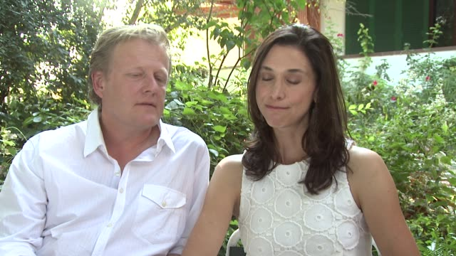 peter brosens jessica woodworth on how the story developed the support they got from their community at le cinquieme saison interview 69th venice... - saison stock-videos und b-roll-filmmaterial
