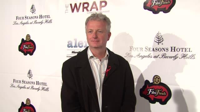 vídeos de stock, filmes e b-roll de peter devlin at thewrapcom preoscar party on 2/22/2012 in beverly hills ca - oscar party