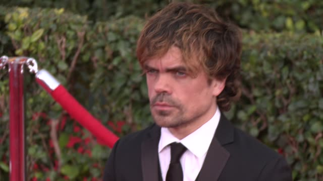 peter dinklage at 20th annual screen actors guild awards arrivals at the shrine auditorium on in los angeles california - シュラインオーディトリアム点の映像素材/bロール