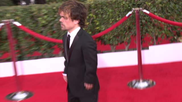 peter dinklage at 20th annual screen actors guild awards arrivals at the shrine auditorium on in los angeles california - shrine auditorium video stock e b–roll
