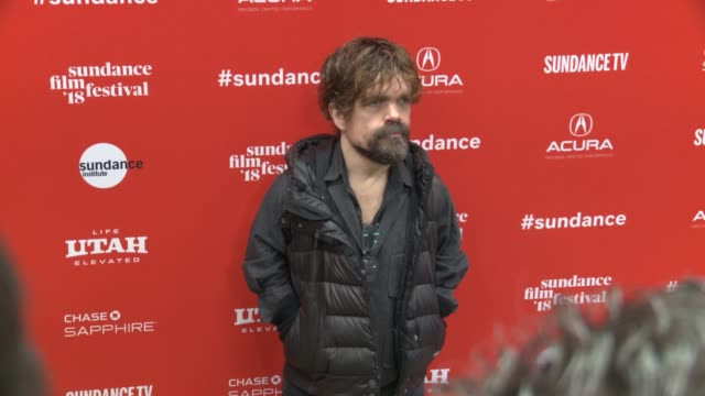 Peter Dinklage at the 'I Think We're Alone Now' Premiere 2018 Sundance Film Festival at Eccles Center Theatre on January 21 2018 in Park City Utah