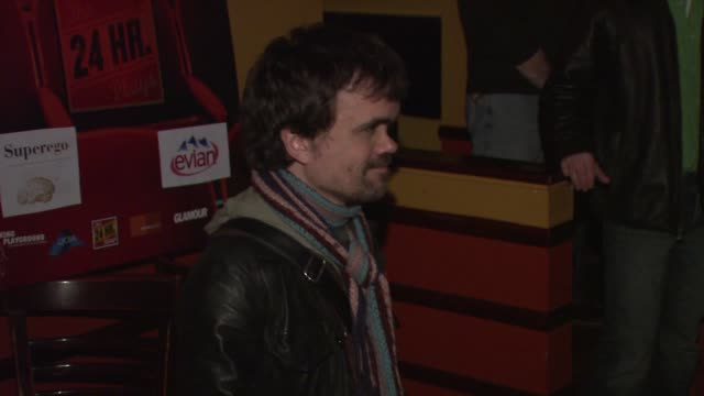 Peter Dinklage at the The 24 Hour Plays After Party in New York City at East of 8th in New York New York on March 18 2008