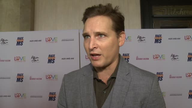 peter facinelli on the event and what race to erase does to change lives at the 26th annual race to erase in los angeles, ca 5/10/19 - peter facinelli video stock e b–roll