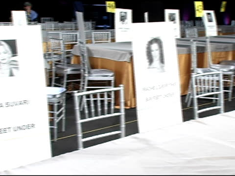 peter facinelli's seat card at the 2005 screen actors guild sag awards rehearsals at the shrine auditorium in los angeles, california on february 4,... - peter facinelli video stock e b–roll