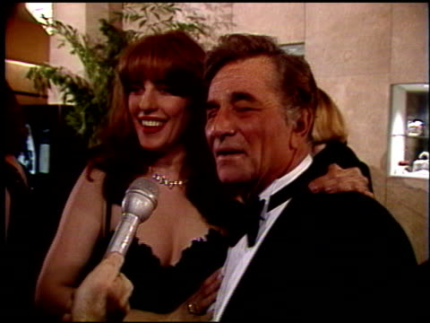 peter falk at the 1992 golden globe awards at the beverly hilton in beverly hills california on january 18 1992 - peter falk stock-videos und b-roll-filmmaterial