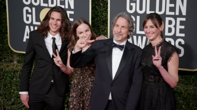 peter farrelly and melinda kocsis at the 76th annual golden globe awards at the beverly hilton hotel on january 06, 2019 in beverly hills, california... - the beverly hilton hotel stock videos & royalty-free footage
