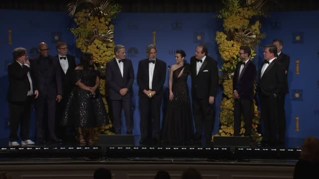 stockvideo's en b-roll-footage met speech peter farrelly octavia spencer viggo mortensen and the cast and crew of 'green book' at the 76th annual golden globe awards press room at the... - golden globe awards