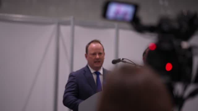 peter fortune wins the london assembly member for bexley and bromley seat at the excel centre on may 07, 2021 in london, england. the london mayoral... - shaun bailey london assembly member stock videos & royalty-free footage