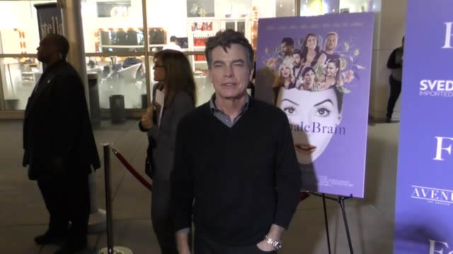 peter gallagher attends the female brain premiere at arclight cinemas in hollywood in celebrity sightings in los angeles - arclight cinemas hollywood video stock e b–roll