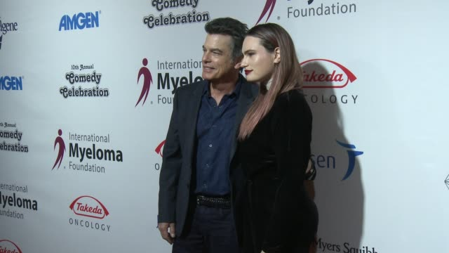 peter gallagher, kathryn gallagher at international myeloma foundation's 10th annual comedy celebration benefiting the peter boyle research fund &... - peter boyle stock videos & royalty-free footage