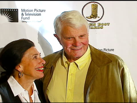 peter graves at the the motion picture and television fund's 24th golden boot awards at the beverly hilton in beverly hills california on august 12... - motion picture & television fund stock videos & royalty-free footage