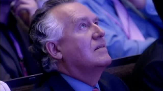 peter hain resigns forcing cabinet reshuffle lib manchester bridgewater hall int **beware peter hain mp sitting in audience as mike griffiths is... - bridgewater hall stock videos & royalty-free footage