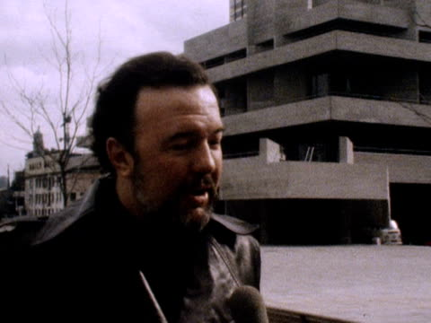peter hall director of the national theatre talks about the new national theatre building march 1976 - 1976 stock videos and b-roll footage