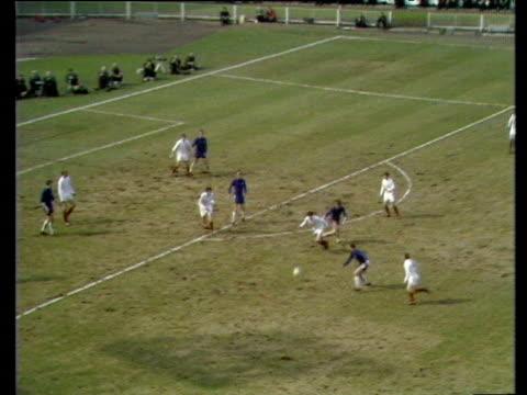 Peter Houseman equalises with twentyfive yard strike which slips under goalkeeper Gary Sprake Chelsea vs Leeds United 1970 FA Cup Final Wembley London
