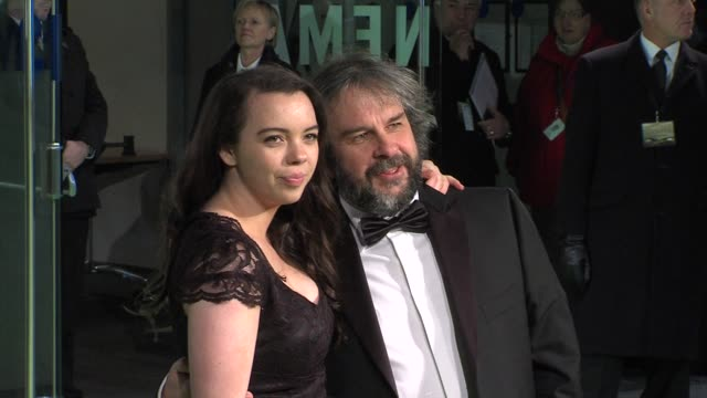 peter jackson at 'the hobbit' uk premiere and royal film performance at odeon leicester square on december 12, 2012 in london, england. - the hobbit stock videos & royalty-free footage